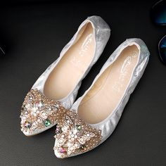 New Spring Summer Women Flats Shoes Pointed Toe Slip on Faux PU Bling  Crystal Fashion Causal 1c5911db4212