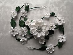 Flowering Vines Kanzashi Hair Clip Barrette by MountainMusings $135