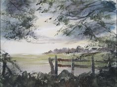 Watercolour painting from photograph I took in Shuttington
