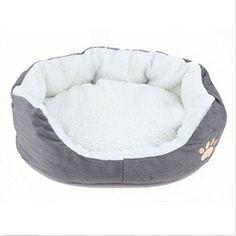 awesome Redonda o forma ovalada hoyuelo forro polar Nesting perro Cueva Cama Mascota Gato Cama para Gatos y Perros Pequeños