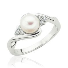 Reeds Jewelers - Freshwater Cultured Pearl and Diamond Ring $399.95