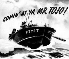 Several large corporations, anxious to keep their names in the public eye during wartime production restrictions, commissioned Jack Coggins to produce illustrations for patriotic advertisements in popular magazines of the time. This work was mostly produced prior to Jack's army service; very little work was commissioned after the conclusion of war.Illustration for Elco Naval Division,of The Electric Boat Company Yachting Magazine November 1942.
