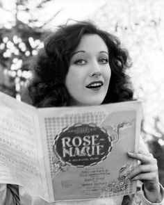 Joan Crawford, reading for the movie, RoseMarie, 1928