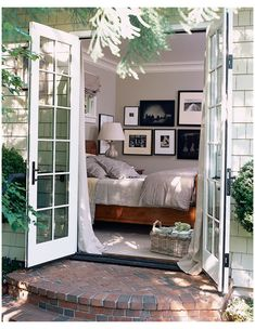 Dream! French doors leading out to a patio from the master or from the guest house.
