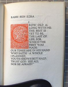 """""""Rabbi Ben Ezra"""" by Robert Browning Victorian Poetry, Robert Browning, Best Quotes, Awesome Quotes, Dreams And Nightmares, Peace Be Upon Him, Writers And Poets, Rhyme And Reason, Rabbi"""