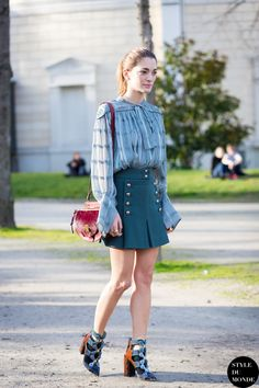 Sofia Sanchez Barrenechea de Betak Street Style Street Fashion Streetsnaps by STYLEDUMONDE Street Style Fashion Blog