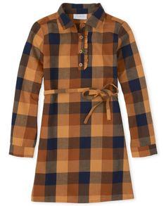 Girls Matching Family Long Sleeve Plaid Twill Shirt Dress | The Children's Place CA Scarlett Rose, Twill Shirt, Plaid, Shirt Dress, Long Sleeve, Sleeves, Children's Place, Shirts, Dresses