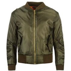 Rock and Rags Bomber Jacket #khaki #uscfashion #bomberjacket