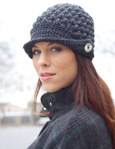 Free Pattern Details - Canadiana - Women's Peaked Cap - Patons Yarn