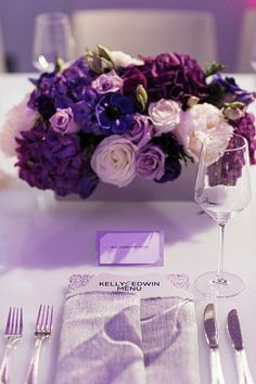Purple reception wedding flowers, wedding decor, wedding flower centerpiece, wedding flower arrangement, add pic source on comment and we will update it. can create this beautiful wedding flower look. Purple Flower Centerpieces, Purple Wedding Flowers, Wedding Table Flowers, Wedding Flower Arrangements, Floral Wedding, Wedding Colors, Wedding Bouquets, Wedding Decorations, Decor Wedding