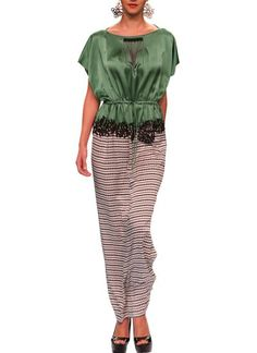 Kaftan Inspired Drawstring Dress by Sougat Paul | Indian Designers | Indian Clothes | Dresses