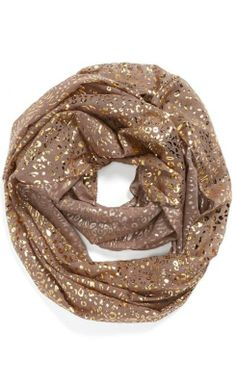 Love: Metallic cheetah print infinity scarf.