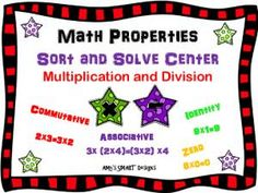 Math Properties Sort and Solve Center Multiplication and Division-Promotion ends at 11:59:59 CST on 8-13-2013