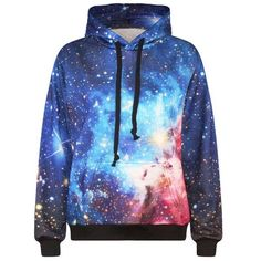2017 New Fashion Men's 3d sweatshirt space/galaxy print hooded hoodies casual lovely tracksuits hoody tops with pockets