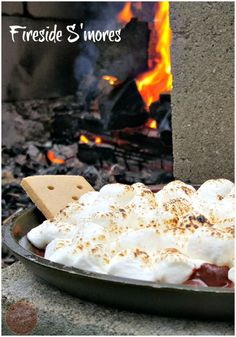 These Fireside S'mores are just the ticket to get everyone outside enjoying time with each other. That first taste brings backs any and all memories of being a child all in one bite.