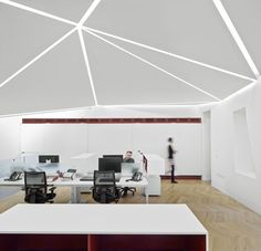 Great James Street Office extension with a faceted copper roof by Emrys Architects Corporate Interiors, Corporate Design, Office Interiors, Commercial Interior Design, Office Interior Design, Commercial Interiors, Contemporary Architecture, Architecture Details, Interior Architecture