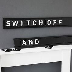 typographic cinema display board by goodwin + goodwin | notonthehighstreet.com