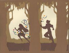 Pocahontas paper silhouette