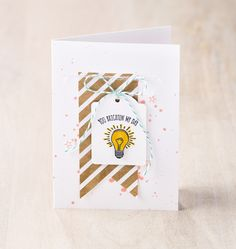 Earn the You Brighten My Day stamp set to make this card during Sale-A-Bration!