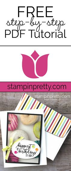 FREE Step-by-Step PDF Tutorial by Mary Fish, Stampin' Pretty on how to create a simple card using the Picture Perfect Stamp Set and Coordinating Picture Perfect Designer Series Paper Stack. #maryfish #stampinpretty