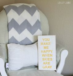 """""""You make me happy when skies are gray"""" free printable"""