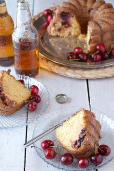 A super easy recipe great for Memorial Day! 4 Ingredient Cherry & Cream Soda Bundt Cake