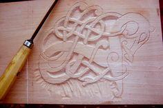 DeviantArt: More Artists Like Norman - Viking Helmet by Aranglinn Celtic Decor, Celtic Art, Wood Carving Designs, Wood Carving Patterns, Chip Carving, Bone Carving, Celtic Patterns, Celtic Designs, Learn Woodworking