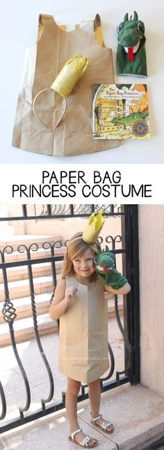 A easy-to-create paper bag princess costume based on Robert Munsch& classic tale. Book Character Day, Book Character Costumes, World Book Day Costumes, Book Costumes, Costume Ideas, Easy Book Week Costumes, Teen Costumes, Woman Costumes, Couple Costumes