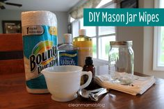 DIY Mason Jar Wipes