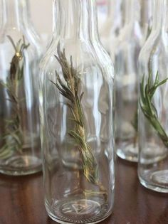 DIY Rosemary Infused Olive Oil Party Favors - Organized-ish by Lela Burris Olive Oil Wedding Favors, Olive Oil Favors, Homemade Wedding Favors, Vintage Wedding Favors, Creative Wedding Favors, Inexpensive Wedding Favors, Edible Wedding Favors, Wedding Favors For Guests, Bridal Shower Favors