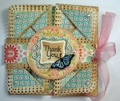 Napkin Fold Card with Samantha Walker stamps from Unity by Gini Cagle