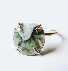 """friedasophiejewelry:  """"Tourmaline Ring by Friedasophie - www.friedasophie.etsy.com  """""""