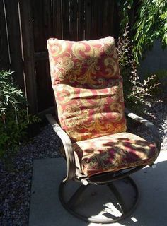 Patio Chair Cushion Covers - HOME SWEET HOME - Knitting, sewing, crochet, tutorials, children crafts, papercraft, jewlery, needlework, swaps, cooking and so much more on Craftster.org