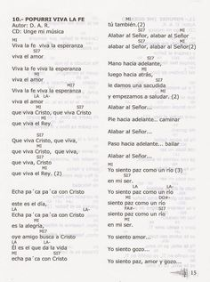 MOVIMIENTO RENOVACIÓN CARISMÁTICA CATÓLICA LETRA, TONOS Y ACORDES DE CANTOS: LETRA DE CANTOS CARISMÁTICOS CON TONOS Y ACORDES LIBRO ALABANZA Y ADORACION Music Stuff, Music Songs, Sheet Music, Journal, Virgin Mary, Kids Songs, Electro Acoustic Guitar, Piano Music, Music Score