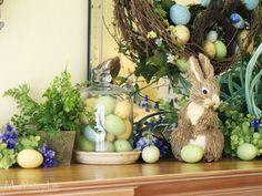 Easter Mantel at ModVintageLife.com