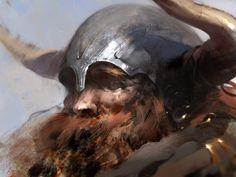 Old barbarian by Jama Jurabaev on deviantART Concept Art World, Fantasy Concept Art, Jama Jurabaev, Digital Ink, Illustration Art, Illustrations, Speed Paint, Cg Art, Painting Inspiration