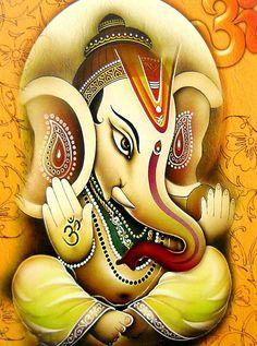 Blessing Ganesha Ganesha Pictures, Ganesh Images, Ganesha Tattoo, Ganesha Art, Fall Tree Painting, Mural Painting, Shiva Art, Hindu Art, Indian Gods