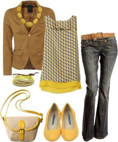 """Cheery Office Yellow"" by heather-rolin on Polyvore"
