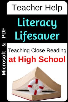 A sequential guide to close reading before, during and after engaging with the text. Cross-curricular literacy strategies and planning guides for any text. Literacy Strategies, Reading Strategies, Reading Activities, School Grades, Student Reading, Close Reading, Microsoft Word, Life Savers, High School Students