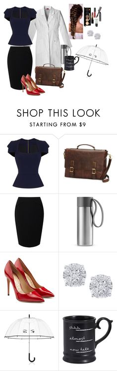 """""""Dr.#1"""" by sadie3132 on Polyvore featuring Roland Mouret, Frye, Jacques Vert, Eva Solo, Salvatore Ferragamo, Effy Jewelry, Bobbi Brown Cosmetics, Kate Spade and Pier 1 Imports"""