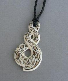 Maori Bone Twist Eternity Tattoo Necklace