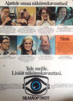 Silmäoptikot silmälasi mainos