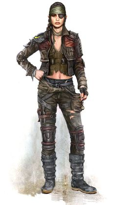 View an image titled 'Female Concept Art' in our MotorStorm Apocalypse art gallery featuring official character designs, concept art, and promo pictures. Post Apocalypse, Apocalypse Survivor, Apocalypse World, Gangsters, Character Concept, Character Art, Post Apocalyptic Art, Apocalyptic Clothing, Apocalypse Character