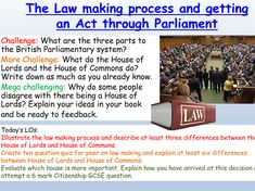 British Values: Law Citizenship Lessons, British Values, House Of Lords, House Of Commons, Criminal Law, Studying, Teaching Resources, Culture, Activities