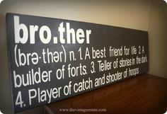"""""""Brother"""" Wall Sign"""
