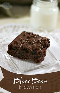 A black bean brownies recipe was in the back of my Illinois Country Living magazine. I would have never imagined using black beans to make