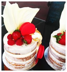 Strawberries and cream and everything in between! Gorgeous cakes by The Cake Tin, Gold Coast and available at Your Local Markets, Palm Beach and Bundall, Australia. #cakes #strawberryandcream #freashbakedcakes #thecaketingc #yourlocalmarkets #goldcoast #australia