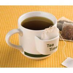 Tea Time Mug W/ Tea Bag Holder ~ FREE SHIPPING!