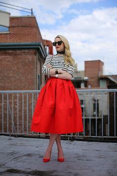 Blair from Atlantic Pacific rocks a fab full skirt.