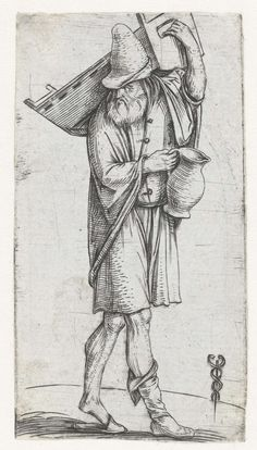 1504 Jacopo de' Barbari, Man with Cradle and Jug (Man met wieg en kruik)